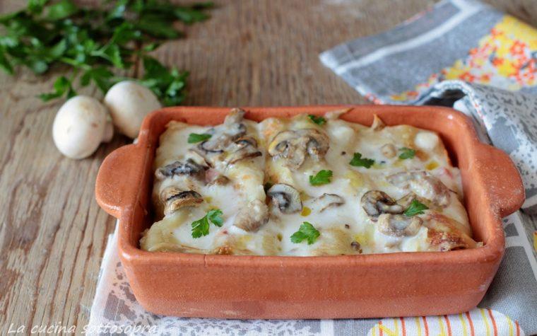 Cannelloni ricotta e funghi