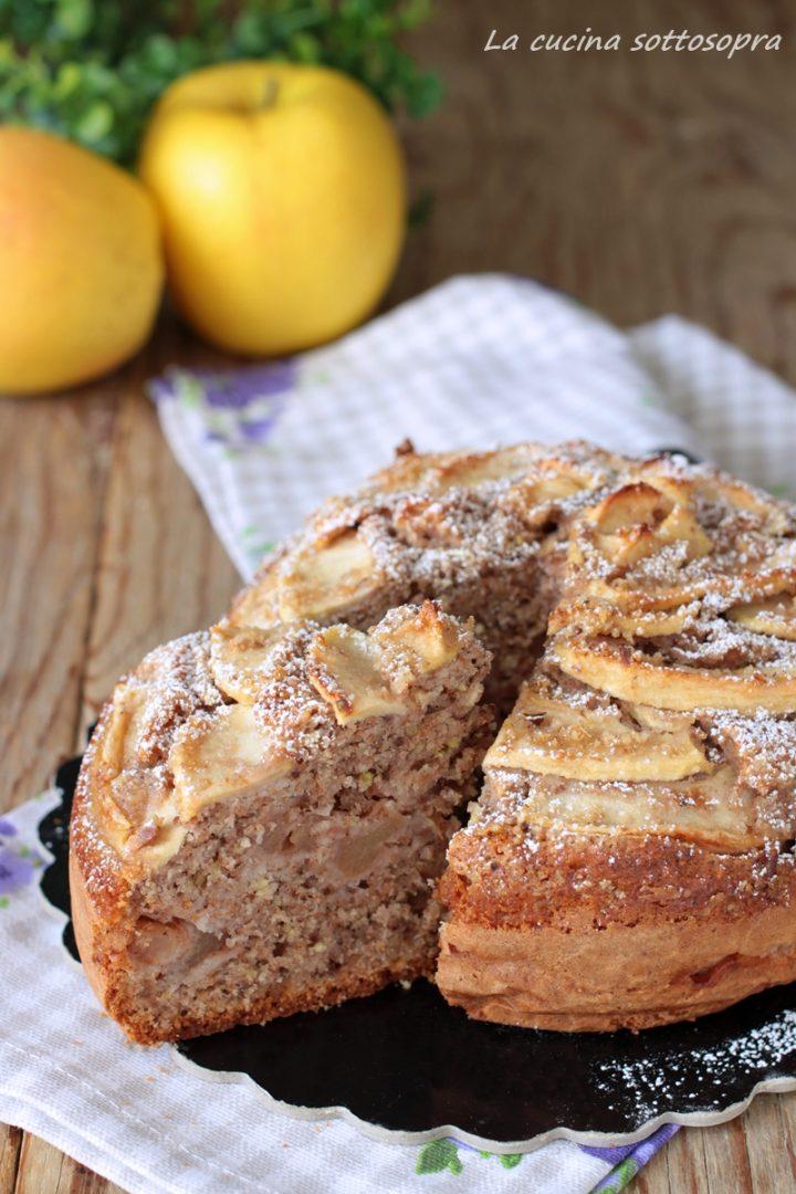 torta integrale mele e noci senza burro