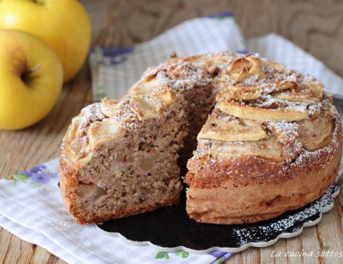 Torta integrale mele e noci – senza burro