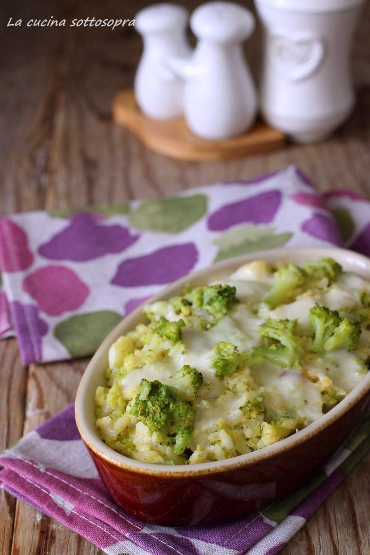 riso al forno con broccoli e scamorza