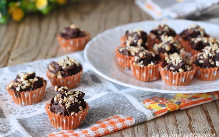 Rose del deserto al cioccolato e cornflakes – senza cottura, pronte in pochi minuti