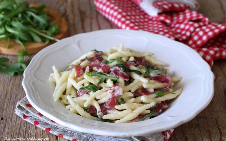 Trofie bresaola rucola e gorgonzola