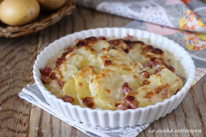 gratin di patate allo speck