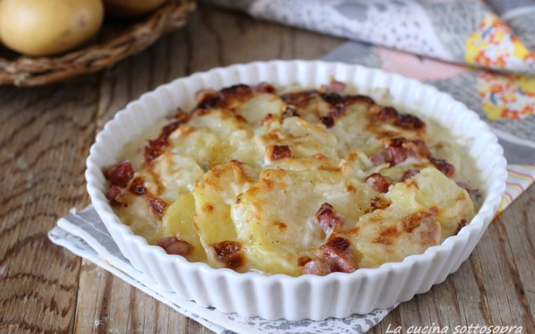 Gratin di patate cremose allo speck