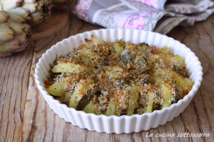 carciofi e patate gratinati contorno