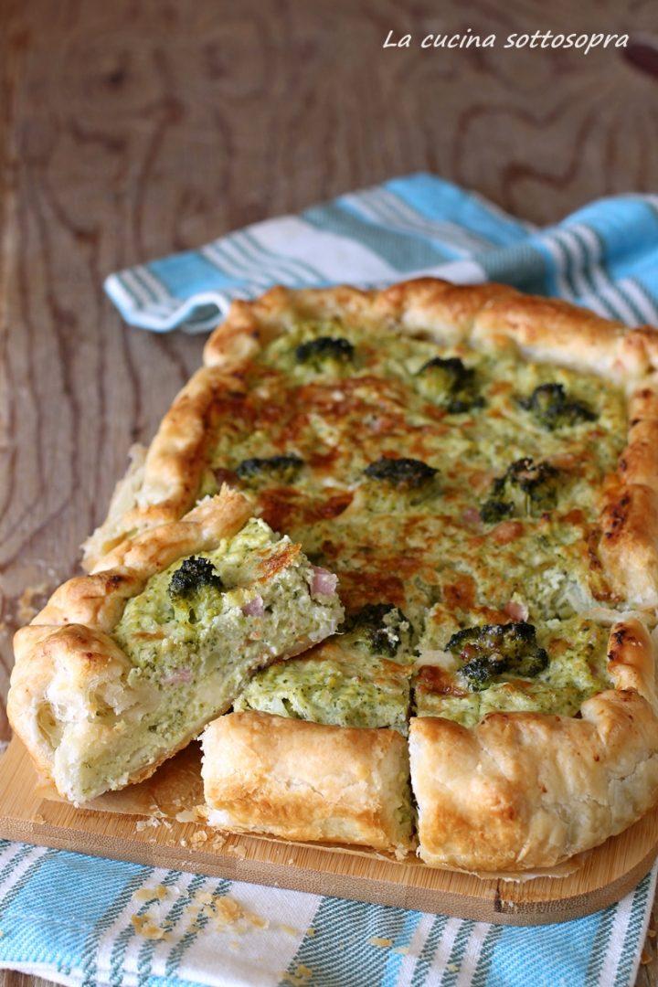 torta salata con broccoli e ricotta