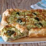 torta salata con broccoli e ricotta e prosciutto