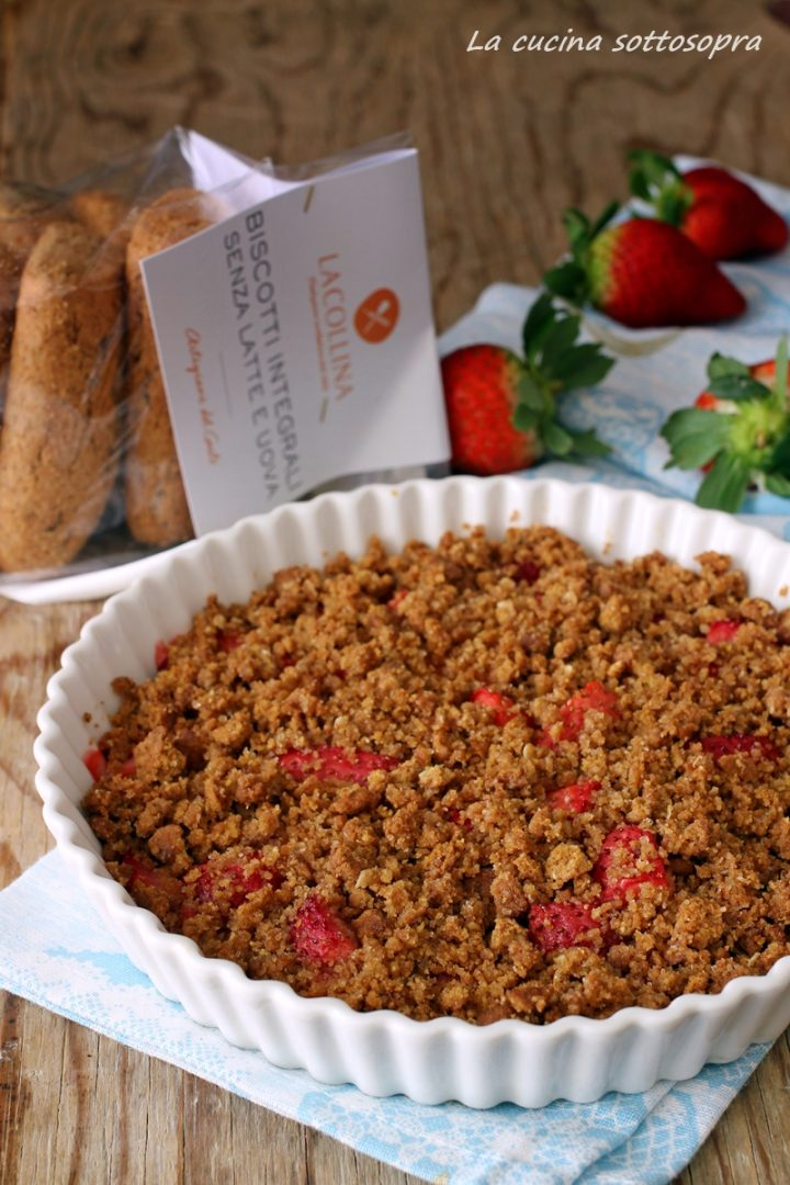 crumble integrale alle fragole