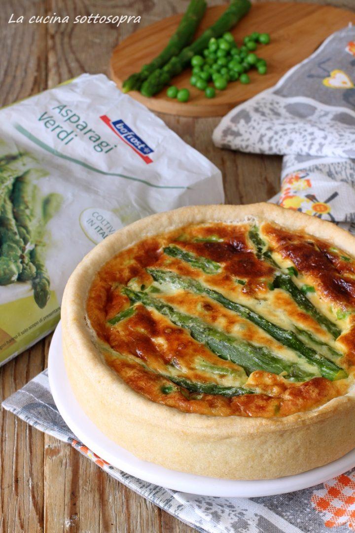 torta salata asparagi e piselli