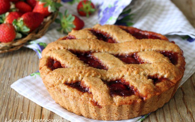 Crostata integrale alle fragole – senza burro e latte