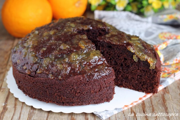 torta cioccolato e arancia senza burro