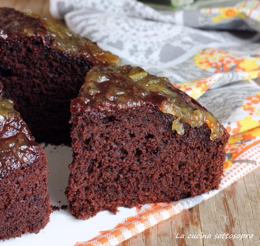 torta cioccolato e arancia fetta