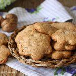 biscotti integrali alle noci senza burro