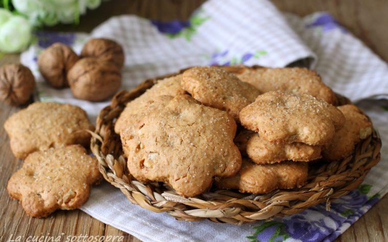 Biscotti integrali alle noci – senza burro