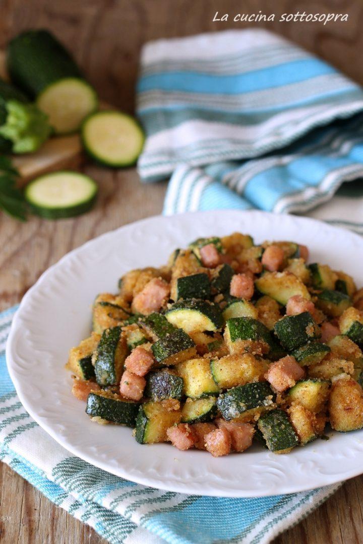 zucchine sabbiose al prosciutto