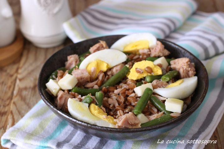 insalata di farro fredda tonno uova e fagiolini