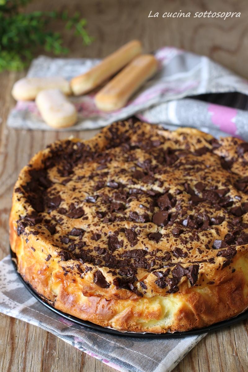 torta tiramisù al forno con cioccolato