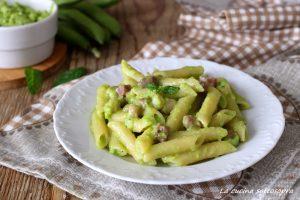 pasta con pesto di fave e pancetta ricetta