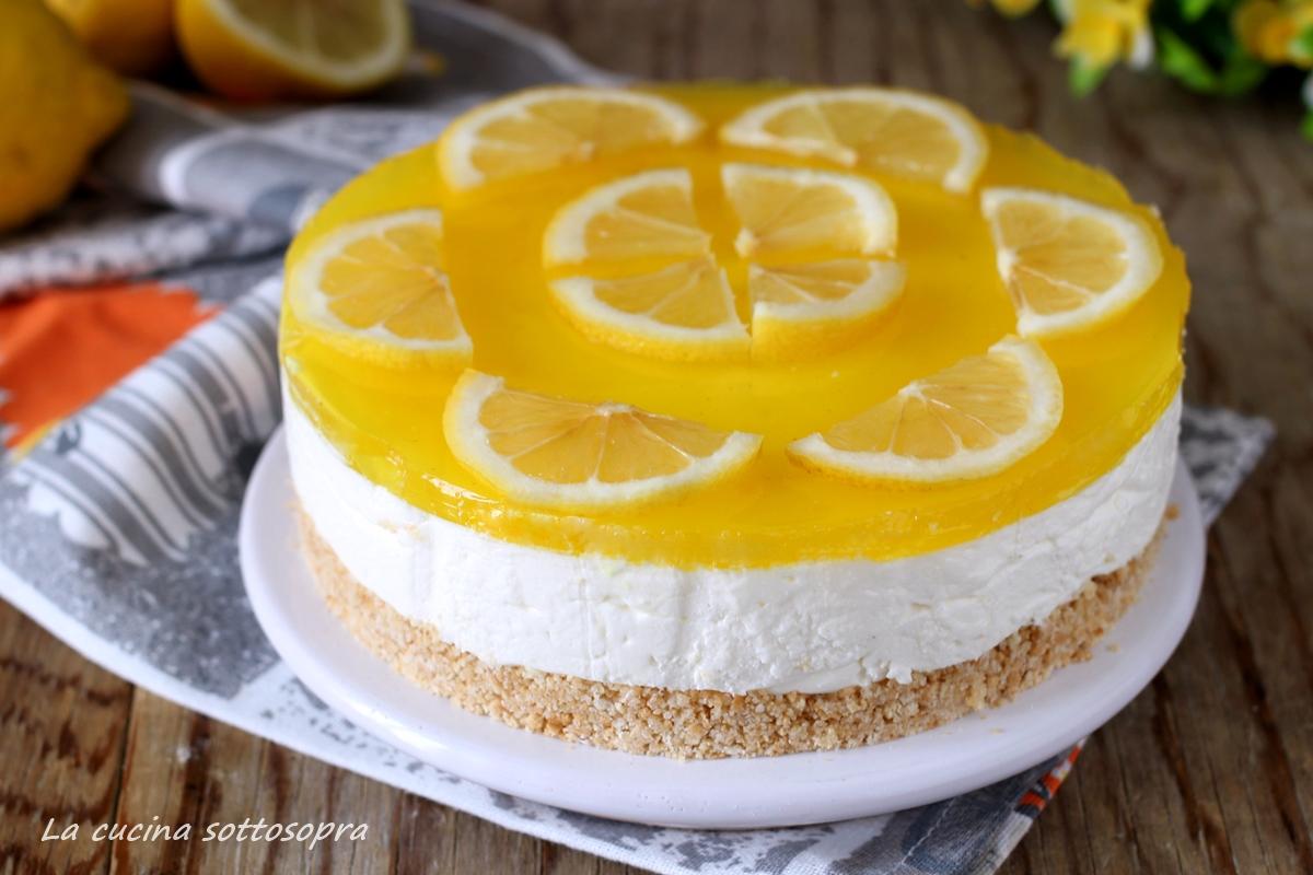 torta fredda allo yogurt e limone