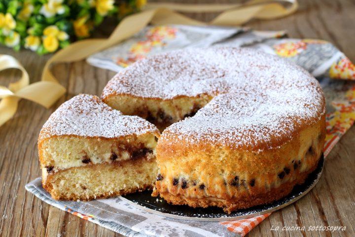 torta versata alla ricotta