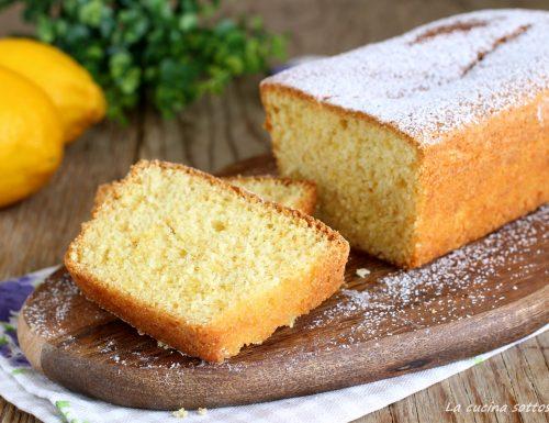 Plumcake soffice al limone – con e senza Bimby