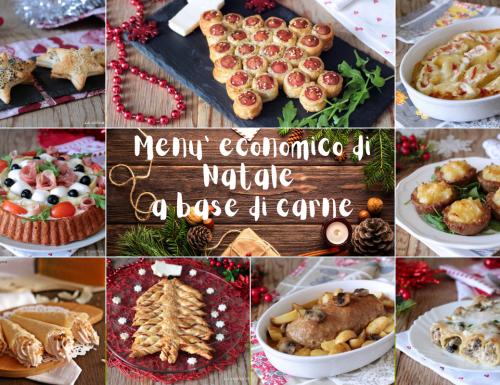 Menù di Natale economico a base di carne