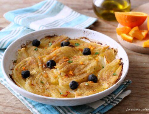 Finocchi all'arancia gratinati con olive nere