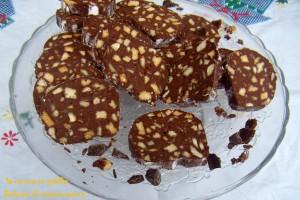 Salame al cioccolato senza uova e burro