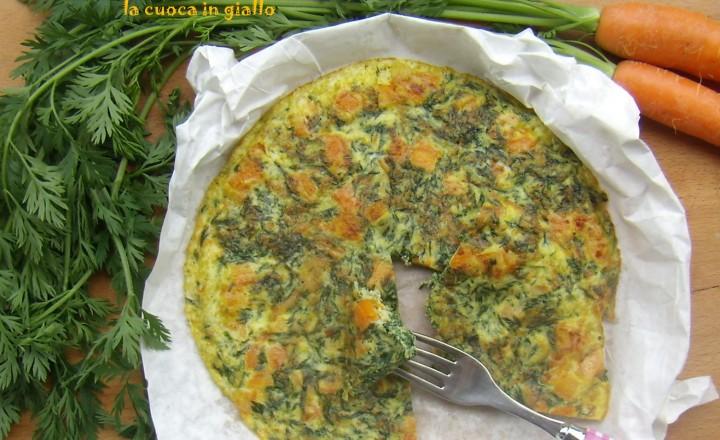Frittata con foglie di carota