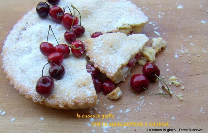 Torta mascarpone e ciliegie
