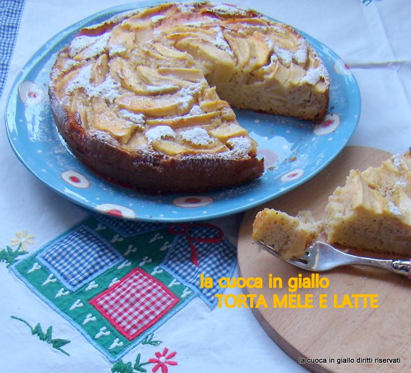 Torta di mele e latte (senza burro)
