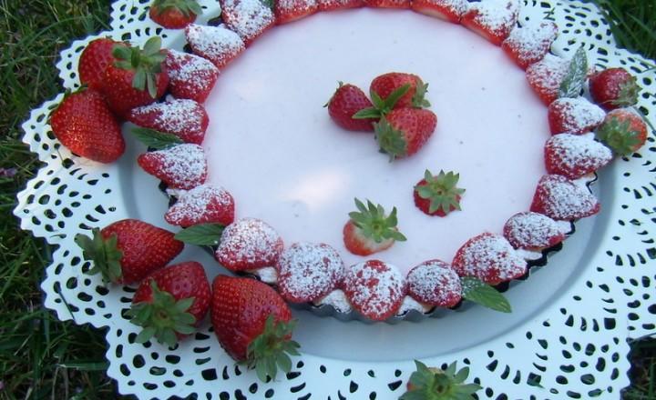 Crostata yogurt e fragole