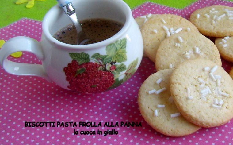 Biscotti di pasta frolla alla panna