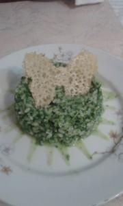 Risotto spinaci e parmigiano