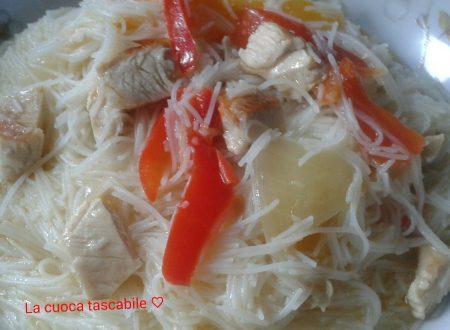 Spaghetti di riso al manzo