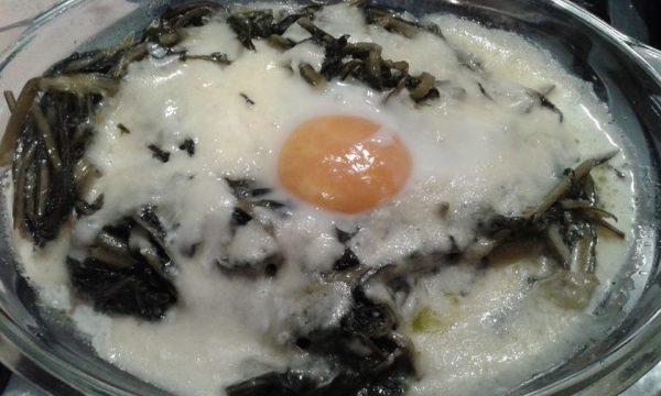 Uovo con la cicoria