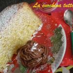 Pandoro con crema di mascarpone alla Nutella
