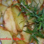 Patate arrosto all'aglio e rosmarino