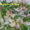 Pasta fredda con rucola, speck e scaglie di parmigiano