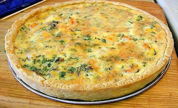 Quiche alle cipolle, spinaci e gorgonzola