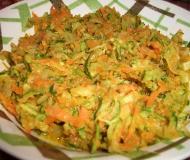Zucchine e carote a julienne