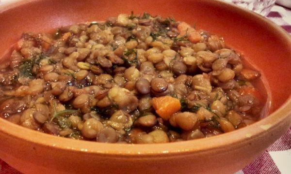 Zuppa di lenticchie al finocchietto