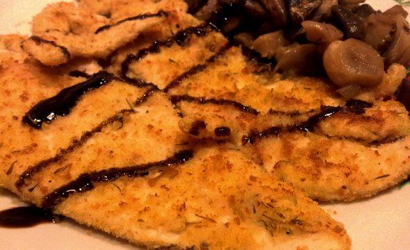 Petto di pollo panato