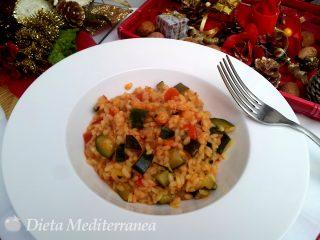 Risotto ai gamberetti, zucchine e pomodorini by Dieta Mediterranea