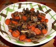 Funghi e carote in agrodolce