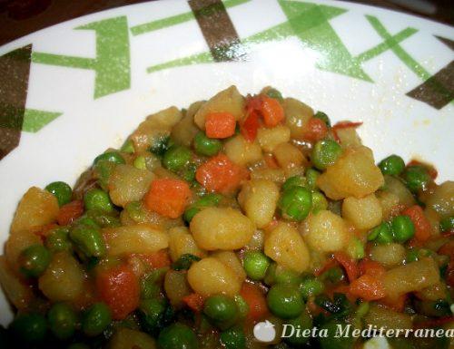 Patate, carote e piselli