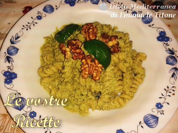 Fusilli con crema di Zucchine, Noci e Basilico - Foto Fan di Emanuele Titone by Dieta Mediterranea