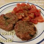 Hamburger con insalta di pomodoro e origano - Foto Fan di Amos Titone by Dieta Mediterranea