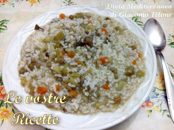 Minestrone con il riso di Giacomo Titone by Dieta Mediterranea