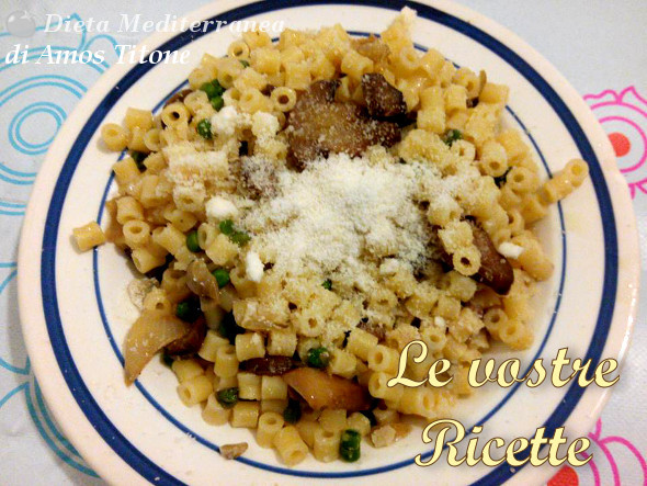 Pasta con funghi e piselli - Foto Fan di Amos Titone by Dieta Mediterranea